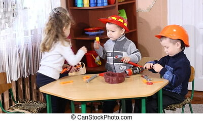 children playing in the profession - children play in...