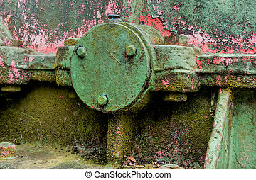 iron with traces of rust, symbol of decay, damage,...