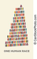 Isotype babel tower - babel tower in isotype pictograms