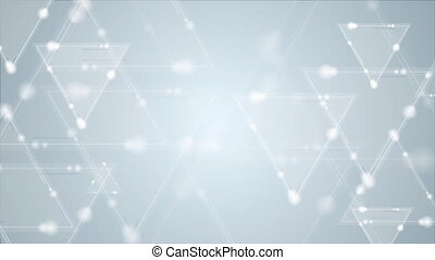 Abstract blue shiny triangles video animation - Abstract...