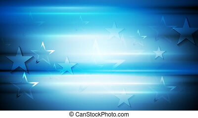 Bright blue stars video animation