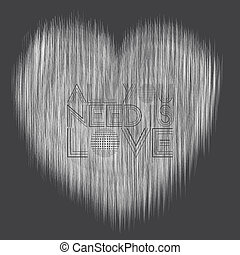 Dynamic Love Lines - An abstract illustration of love this...