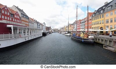 Wind Blowing on the water - Small canal in Copenhagen at day