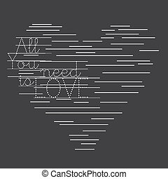 Dynamic Love is all you need - An abstract illustration of...