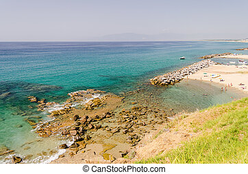 Beach of Pizzo, Calabria, Italy - Beach of Pizzo on the...