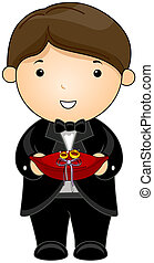Ring Bearer with Clipping Path