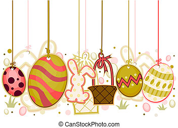 Easter Objects On Strings