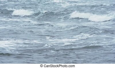 Sea waves closeup