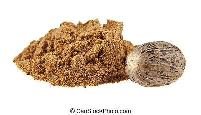 nutmeg isolated on a white background