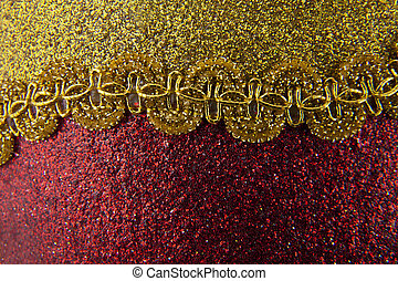 red shiny background with yellow decoration