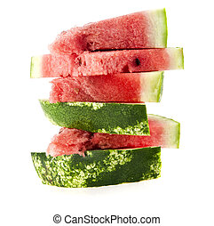 water-melon on a white background