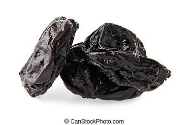 prunes isolated on white background