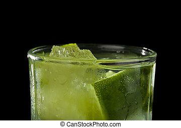 lime juice in a glass