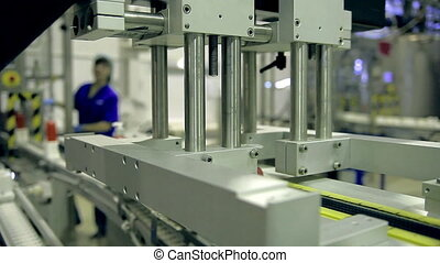 Conveyor production line of soap products