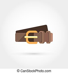 Leather belt - This is a vector illustration of Leather belt...