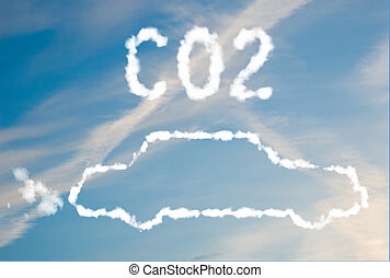 CO2 car emissions - An illustration of a car with the text...