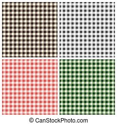 Warm gray checkered pattern - Seamless checkered pattern