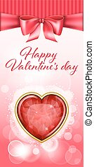 Valentine day backgroung - Holiday background with red gift...