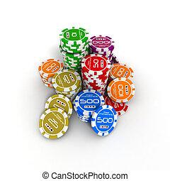 poker chips - 3d poker chips