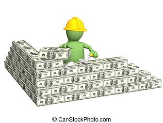 Building business - Conceptual image - building business. 3d