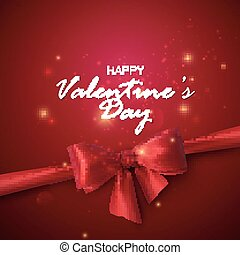 Happy Valentines Day Vector holiday illustration with...