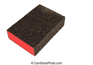 Block of sand paper - Block of very coarse sand paper on...
