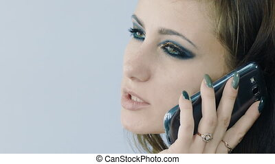 Attractive Young Model Talking On phone - Young Photo Model...