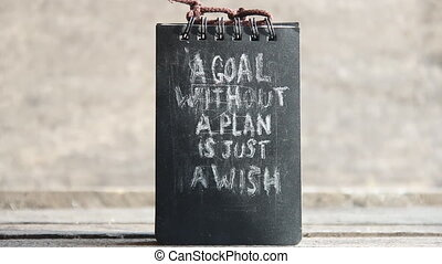 a goal without a plan is just a wish text - a goal without a...