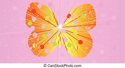 Abstract Butterfly Silhouette - Butterfly pink silhouette...