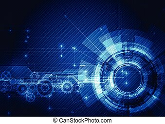Abstract futuristic digital technology background....