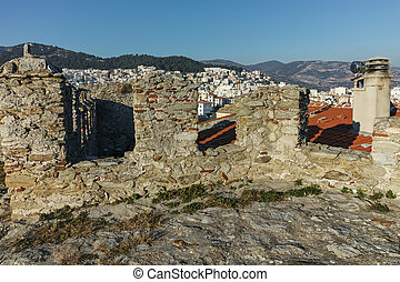 Panorama form fortress to Kavala, East Macedonia and Thrace,...