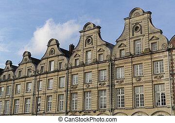 Grand Place Arras - Old buildings around the Grand Place in...
