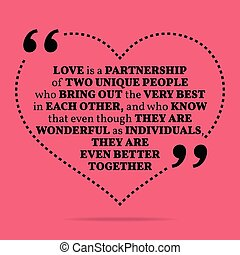 Inspirational love marriage quote.