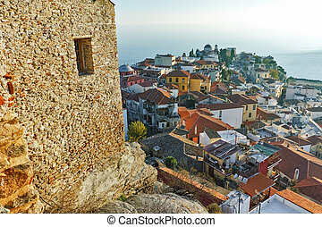 view to old town of Kavala - Panoramic view to old town of...