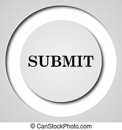 Submit icon Internet button on white background