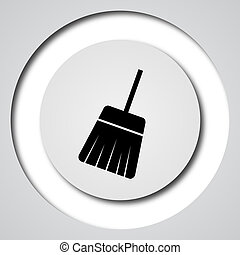 Sweep icon Internet button on white background
