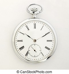 Pocket watch, Old style marks the passage of time in the...