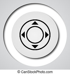 Joystick icon Internet button on white background