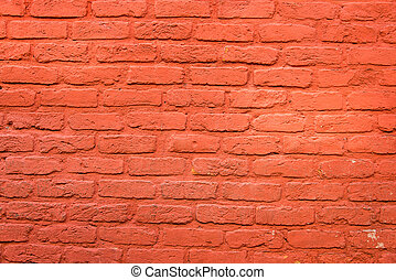 Brickwall with red plaster