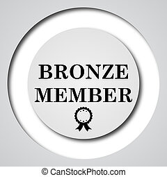 Bronze member icon Internet button on white background