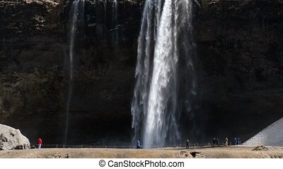 Waterfall in Iceland - Breathtaking Waterfall Selfoss in...