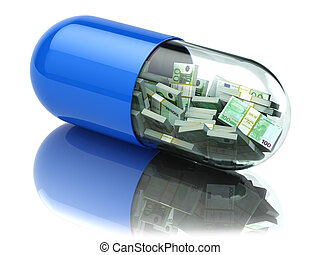 Euro packs in the capsule, pill. Healthcare costs or...