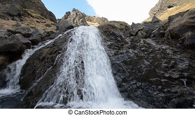 Waterfall in Iceland - Small Waterfall near Selfoss in...