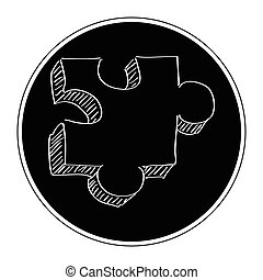 Simple doodle of a jigsaw piece - Simple hand drawn doodle...