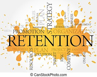 RETENTION word cloud, business concept