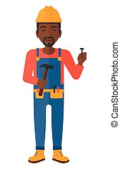 Cheerful repairman engineer - An african-american repairman...