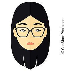 Young depressed woman. - Young depressed woman vector flat...