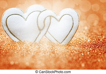 Hearts, background for Valentine's Day