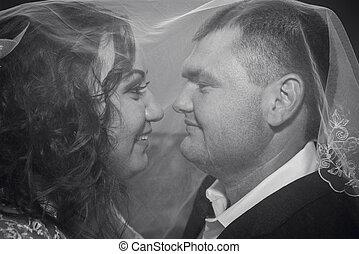 圖片, 白色, 黑色, 婚禮