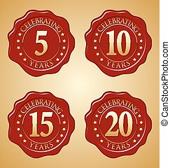 Anniversary Wax Seal 5th, 10th Year's Celebration